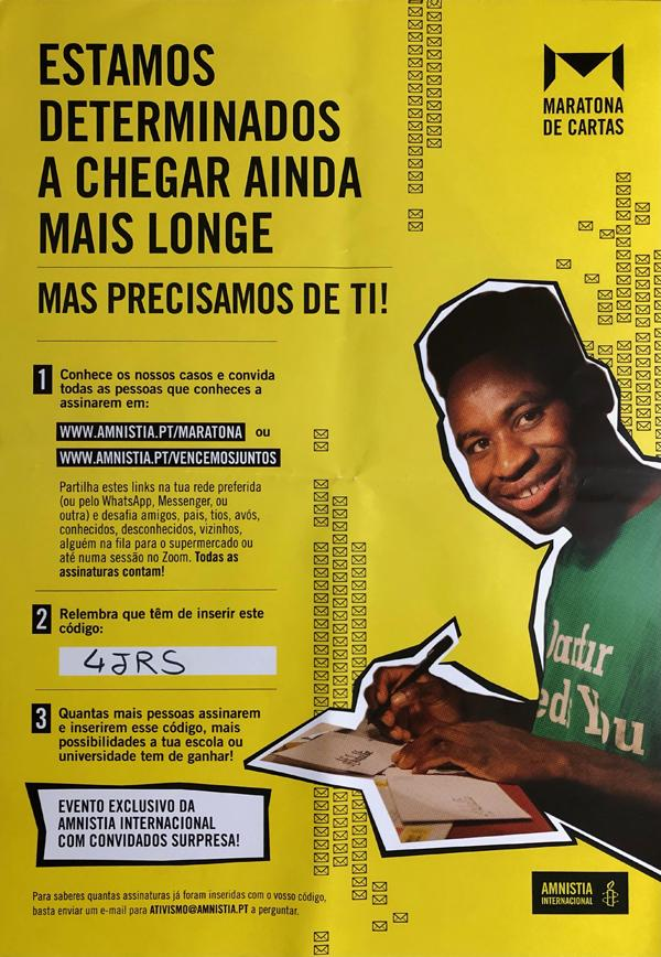 Maratona de cartas » Amnistia Internacional