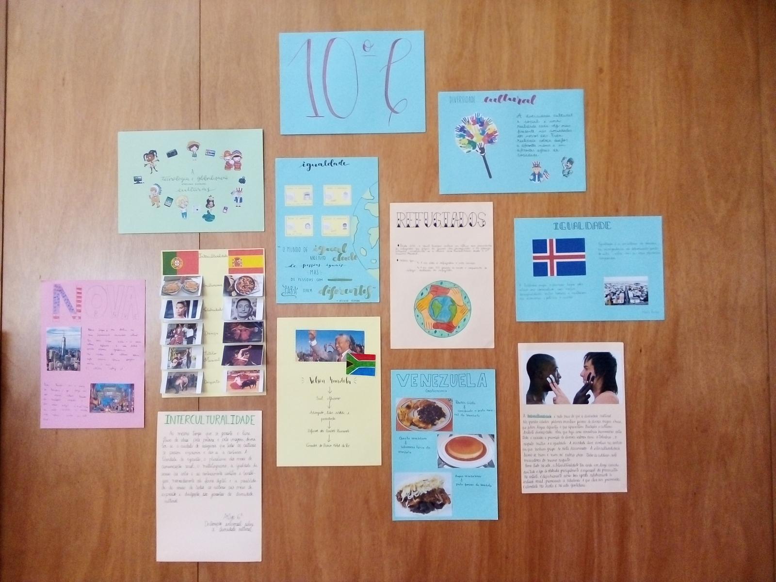 Exposição de trabalhos sobre o tema Interculturalidade