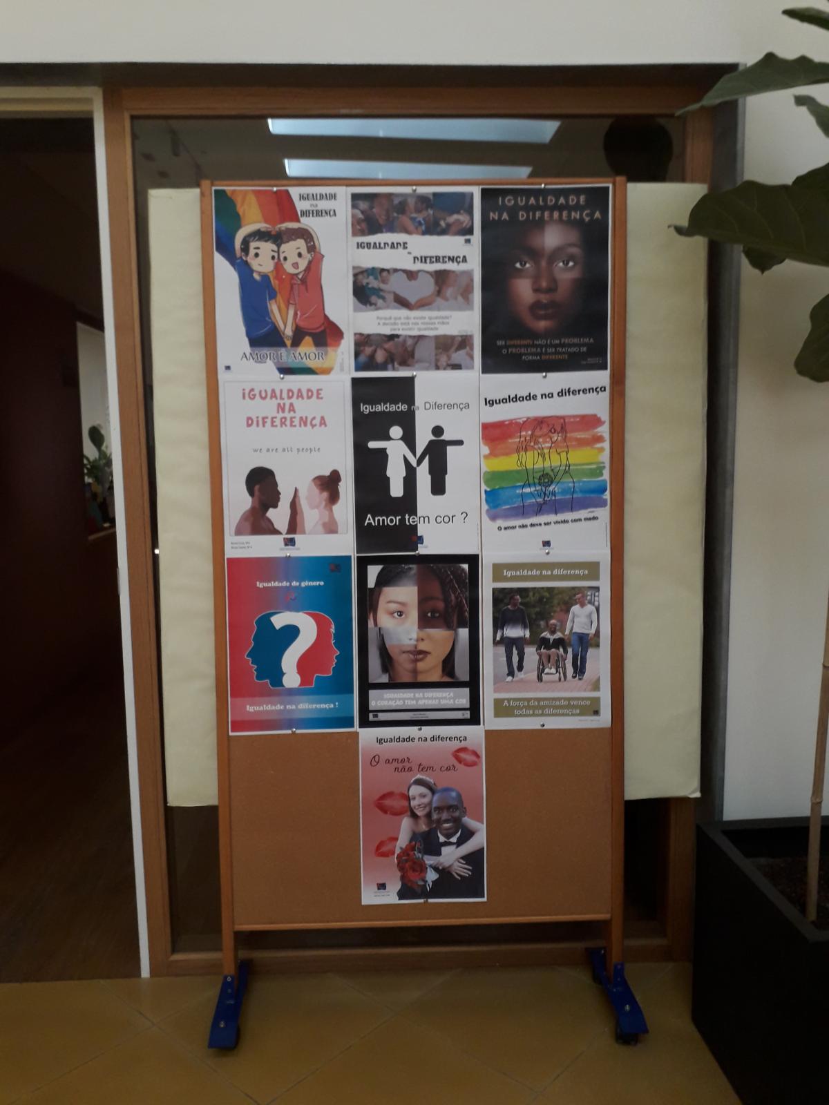 Exposição de Cartazes sobre o tema  Interculturalidade